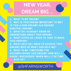A Writing Activity: New Year, Dream Big! | Shaelynn Farnsworth